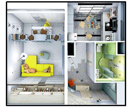 Перепланировка однокомнатных квартир