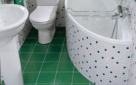 Выравнивание пола под плитку в туалете и ванной