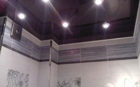 Натяжной потолок в ванной: за или против?