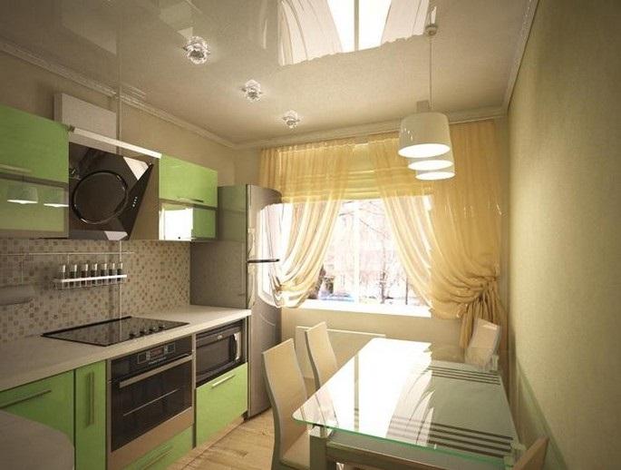 Каким может быть дизайн кухни 8 квадратных метров