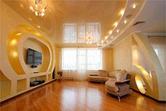 Натяжной потолок: виды виниловых поверхностей