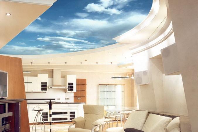 Москвичи всё больше заказывают натяжные потолки