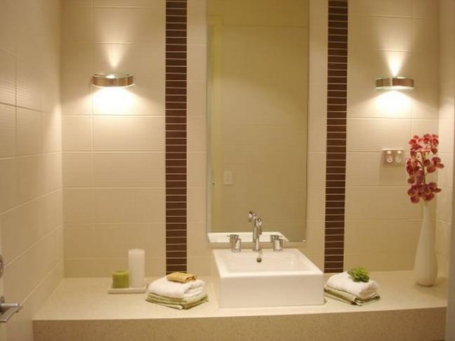 Сантехника и освещение для ванной комнаты