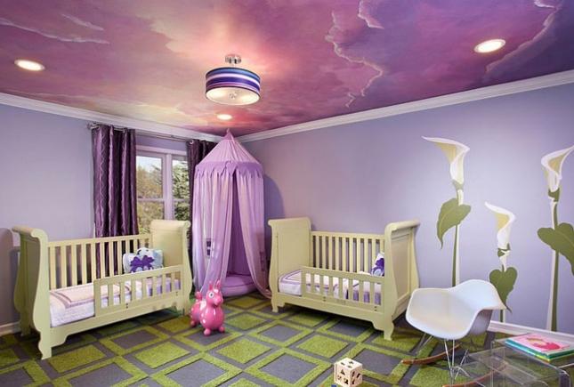 20 потрясающих потолков для детской комнаты: небо, под которым хочется просыпаться