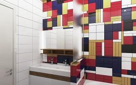 Яркий акцент: 8 способов оригинально отделать ванную керамической плиткой