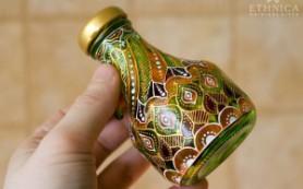 Дизайн интерьера. Изготовление декоративной бутылки «Восточные сладости»