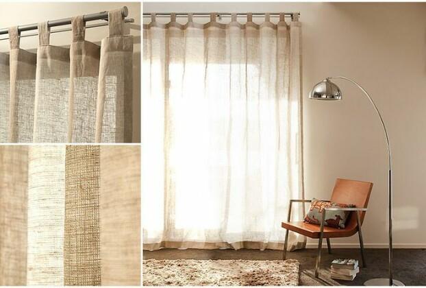 Как повесить шторы: завязки, петли и люверсы