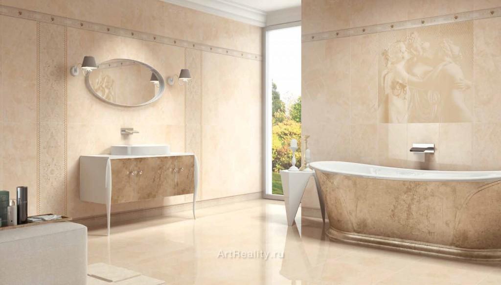 Укладка керамической плитки в ванной комнате