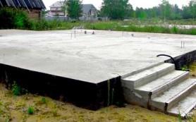 Плитный фундамент для гаража