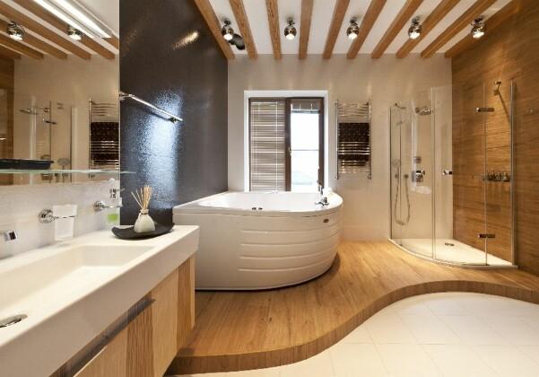 Деревянный потолок в современном дизайне интерьера
