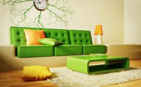 Сочетания желтого и зеленого цветов в интерьере