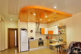 Монтаж натяжных потолков на кухне