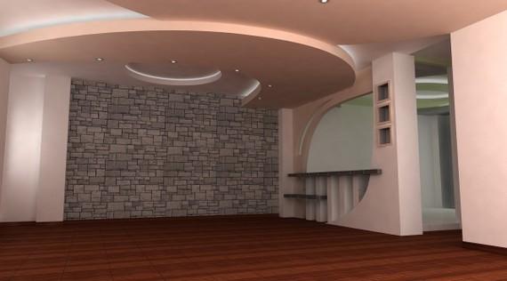 Натяжной потолок станет эффективным решением при проблеме с неровными поверхностями