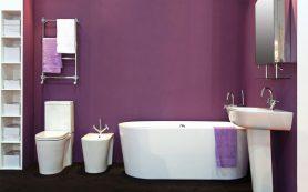 Домашний интерьер на базе фиолетового цвета