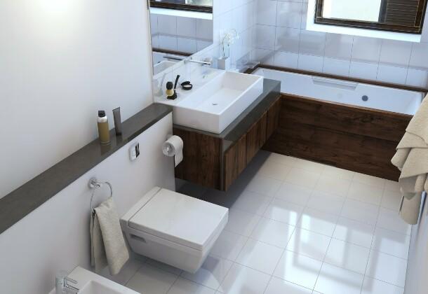 Как правильно увеличить площадь ванной комнаты за счёт коридора