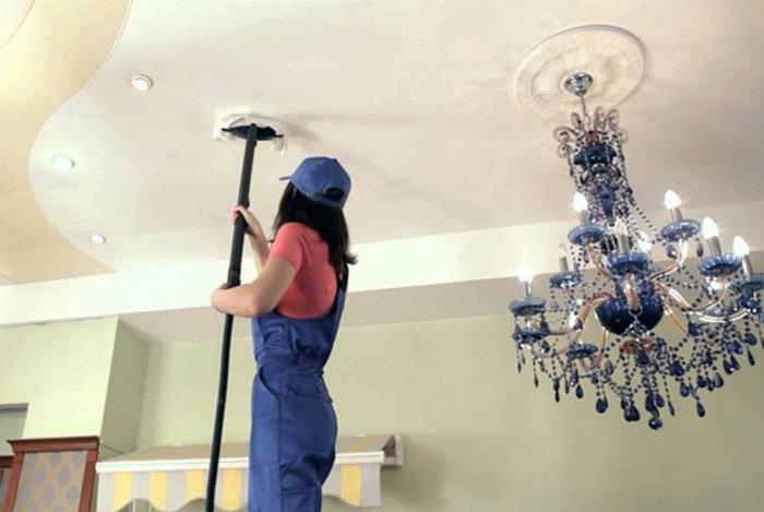Уход за подвесными потолками — чем мыть, чистка, покраска