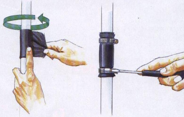 Ремонт пластиковой трубы
