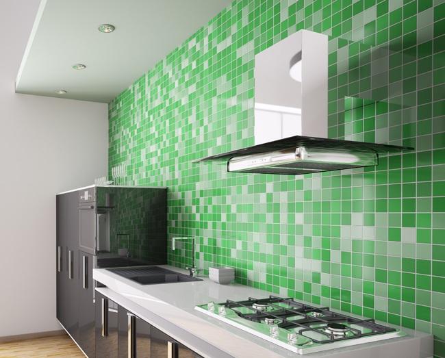 Технология облицовки кухонного фартука керамической плиткой