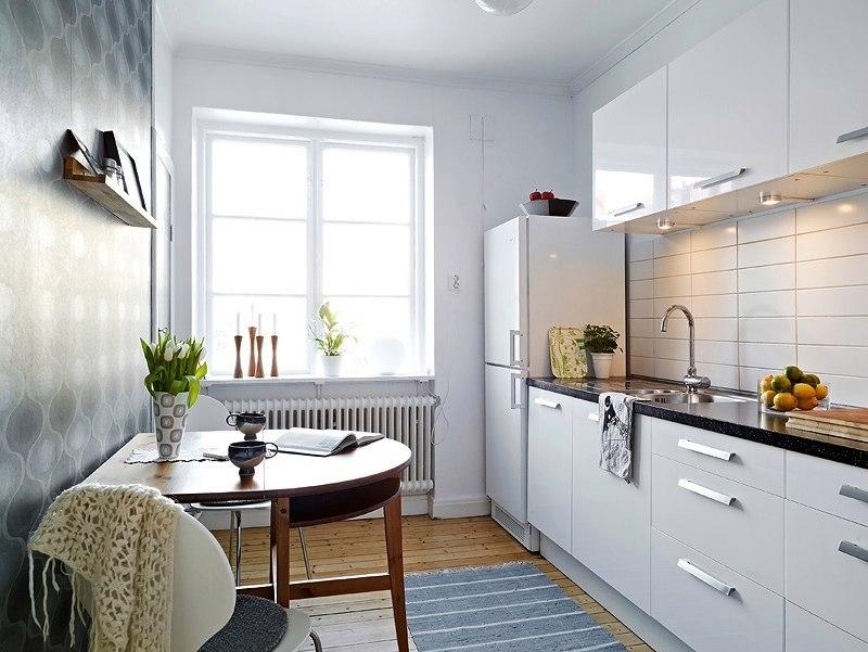 Маленькая кухня: решение проблем