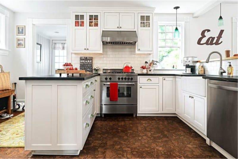Пробковый пол на кухне: все преимущества и недостатки такого решения