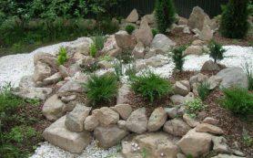 Создание красоты в саду при помощи природного камня