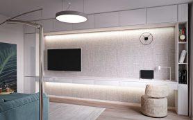 Стильная двушка с минимумом мебели, цвета и декора