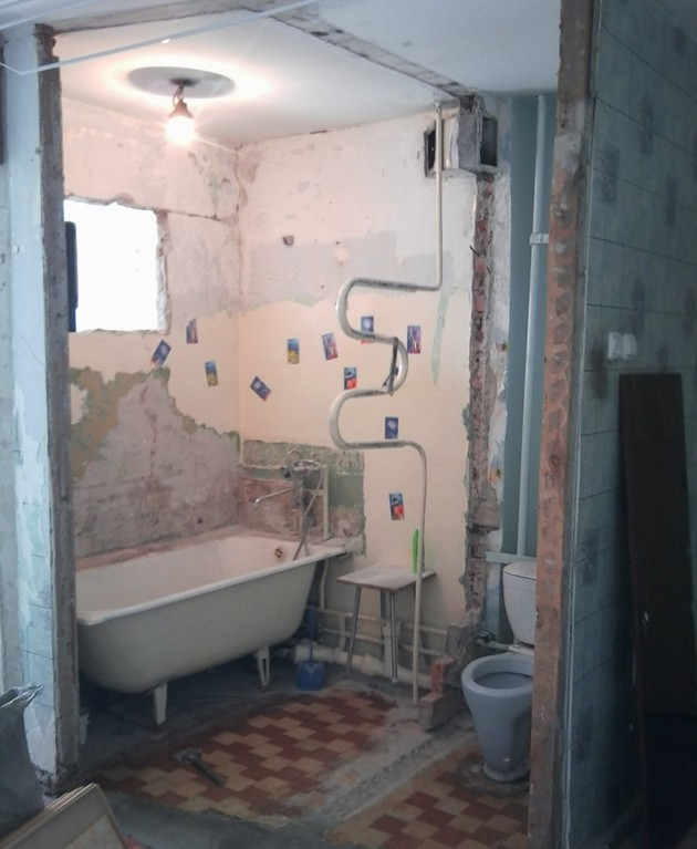 Совмещение туалета и ванной комнаты