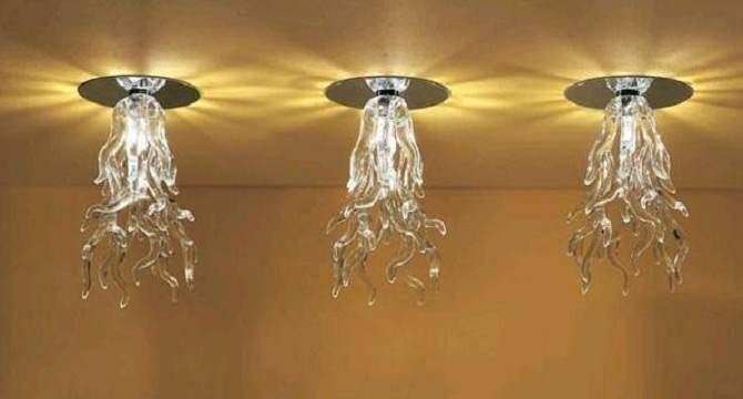 Монтаж точечных светильников в гипсокартон