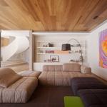 Необычная отделка потолка... ламинатом