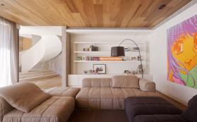 Необычная отделка потолка… ламинатом