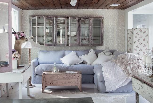 Изысканная романтичность стиля шебби-шик в интерьере квартиры