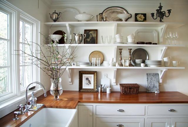 Мастер-класс: открытые полки для кухни в стиле прованс или кантри