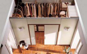 Эргономика маленькой гардеробной комнаты