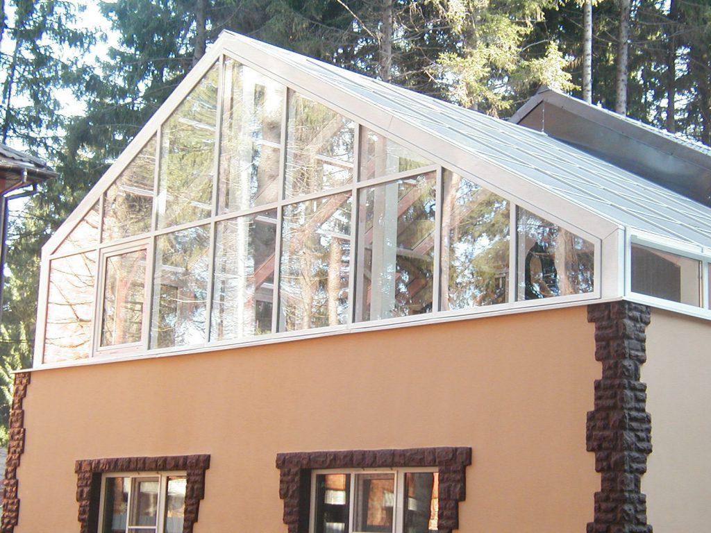 Зимний сад на крыше — решение для небольших домов