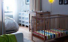 Зонирование однокомнатной квартиры для пары с ребенком