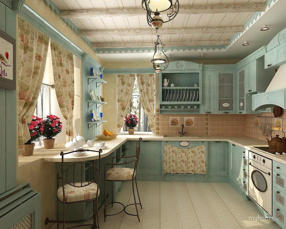Интерьер в стиле прованс: кухня vs спальня