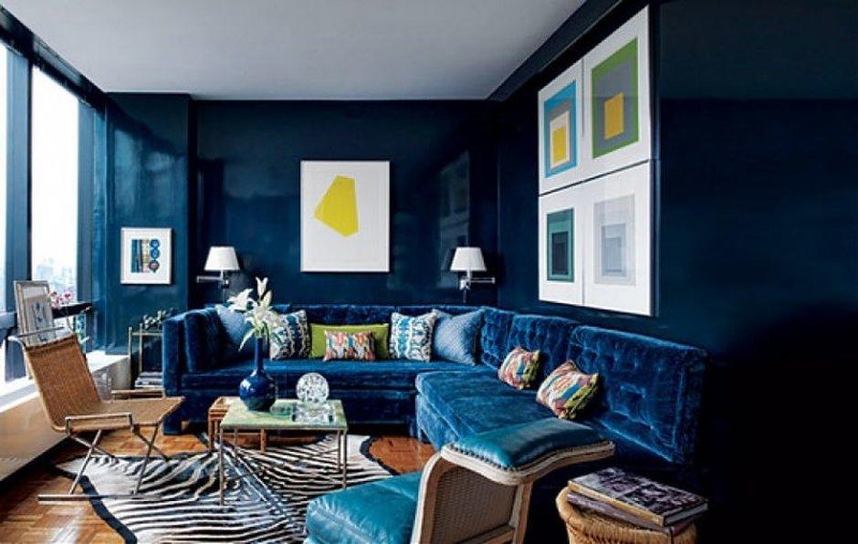 Почему оттенки синего очень выигрышны для интерьера + 20 удачных примеров