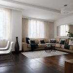 Панорамные окна и белые стены: дизайн квартиры