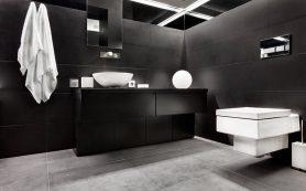 Темный потолок в домашнем интерьере