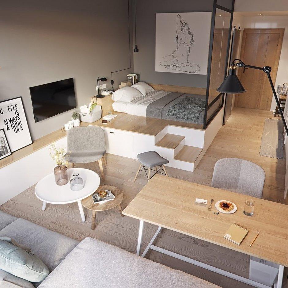 Подиум в квартире: 8 стильных и функциональных решений