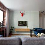 Из двушки в четырехкомнатную квартиру: удобный лофт для большой семьи