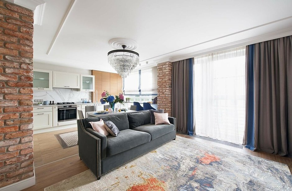 Стильная квартира с удобной планировкой для семьи с двумя детьми