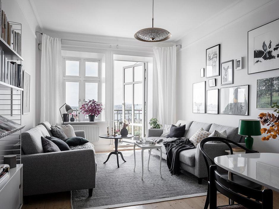 Скандинавская квартира с продуманным хранением