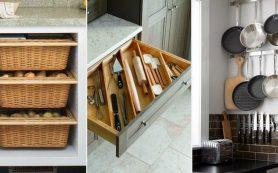 10 необычных мест хранения на кухне