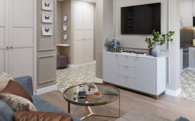 Однокомнатная квартира с отдельной спальней для взрослой пары