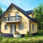 Дачный дом с мансардой