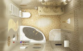 Комплексный ремонт в ванной комнате
