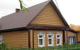 Имитация дерева на фасадах домов с помощью сайдинга