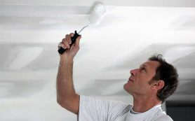 Как покрасить потолок акриловой краской. Советы по покраске потолка