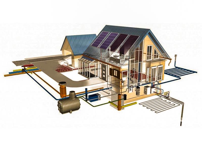 Монтаж отопления, водоснабжения, канализации под ключ в частном доме